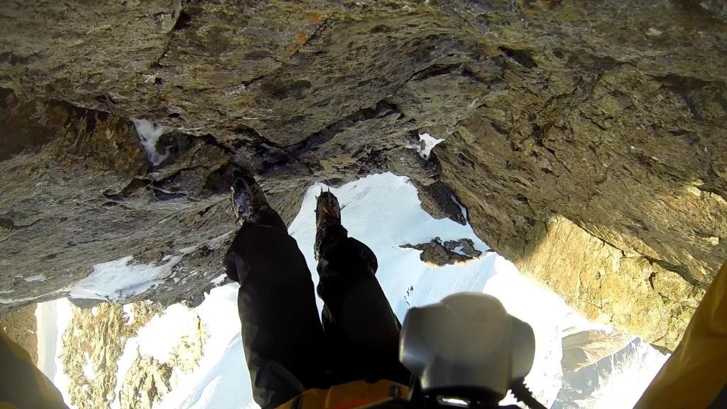Steep down-climbing