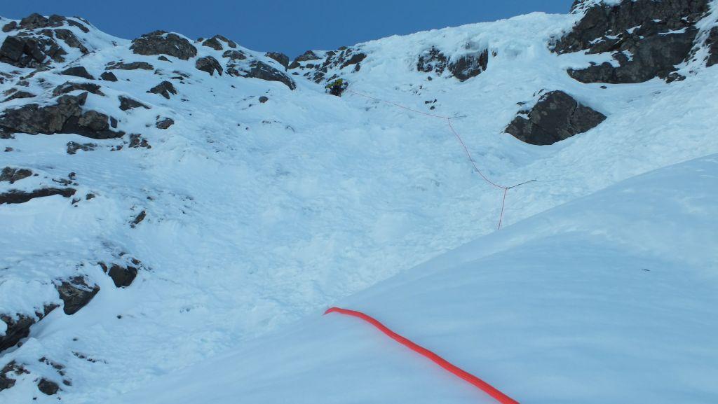 Fun climbing on good easy angled ice/snow