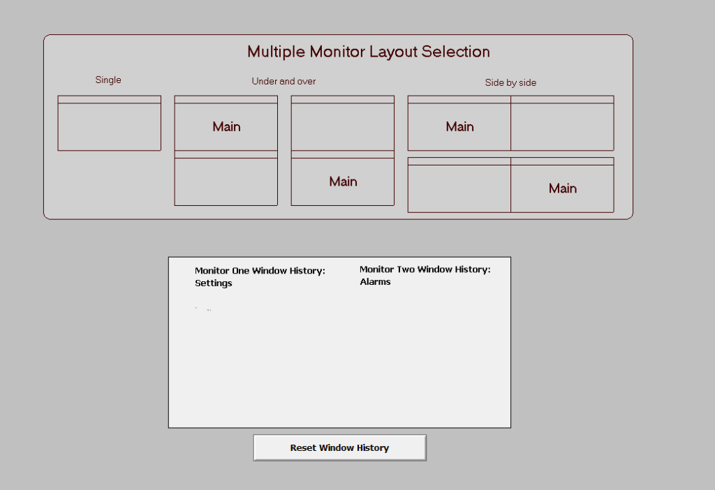 Multimonitor selection